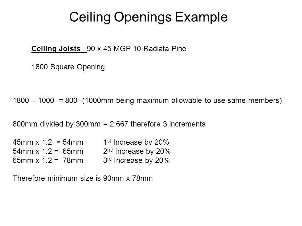 Ceiling Openings Example