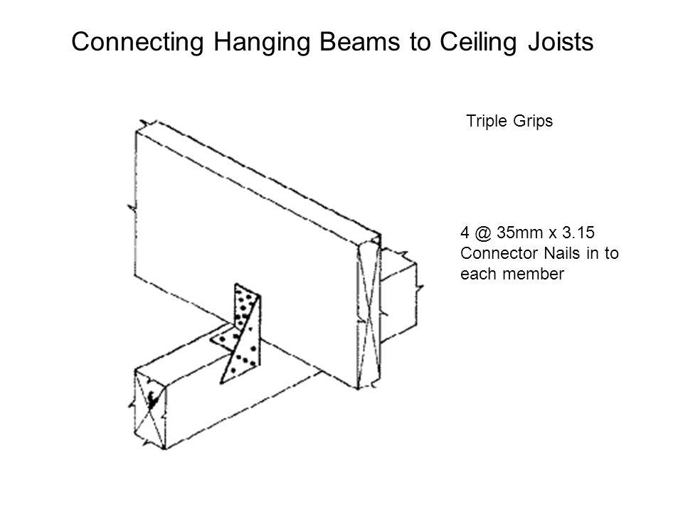 Connecting Hanging Beams to Ceiling Joists