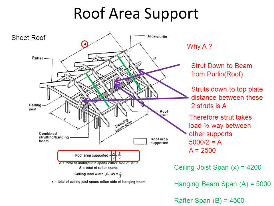 Roof Area Support Sheet Roof Why A