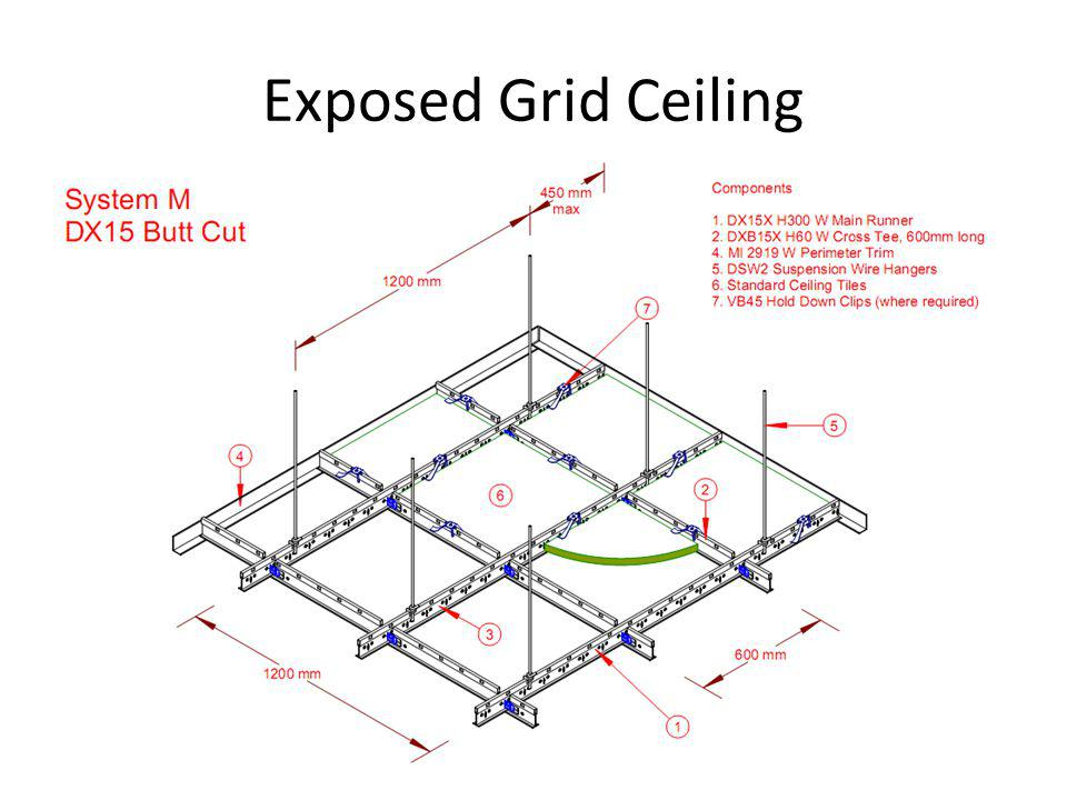 Exposed Grid Ceiling