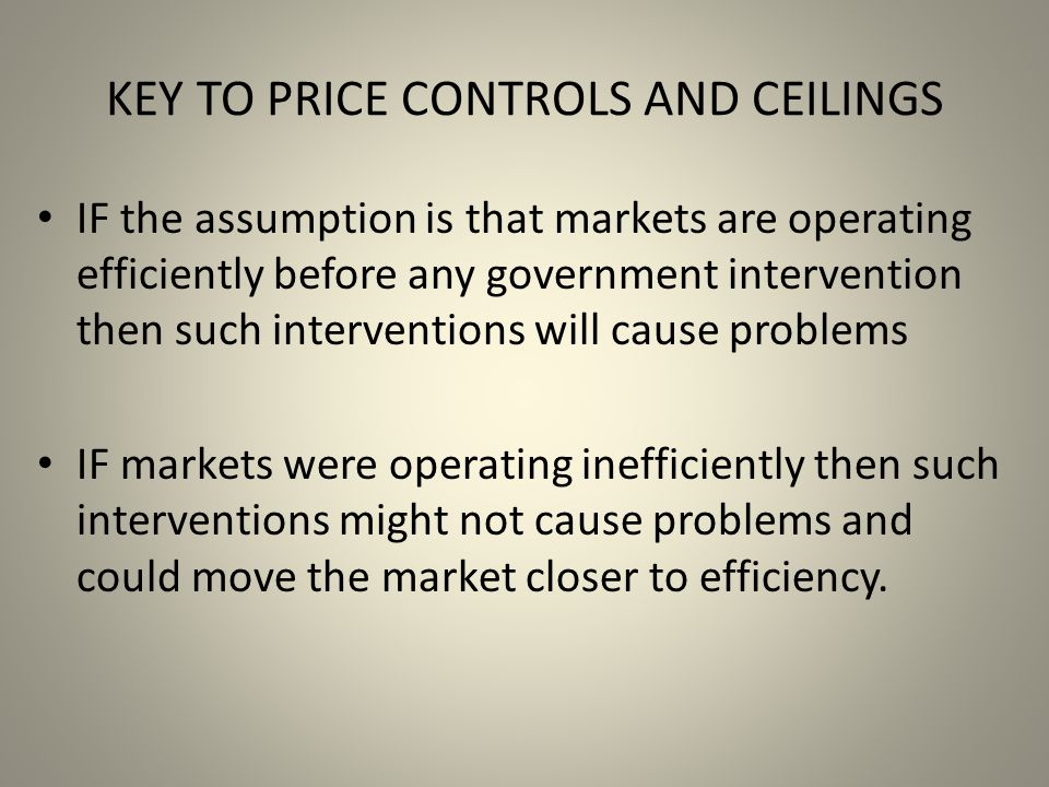 KEY TO PRICE CONTROLS AND CEILINGS