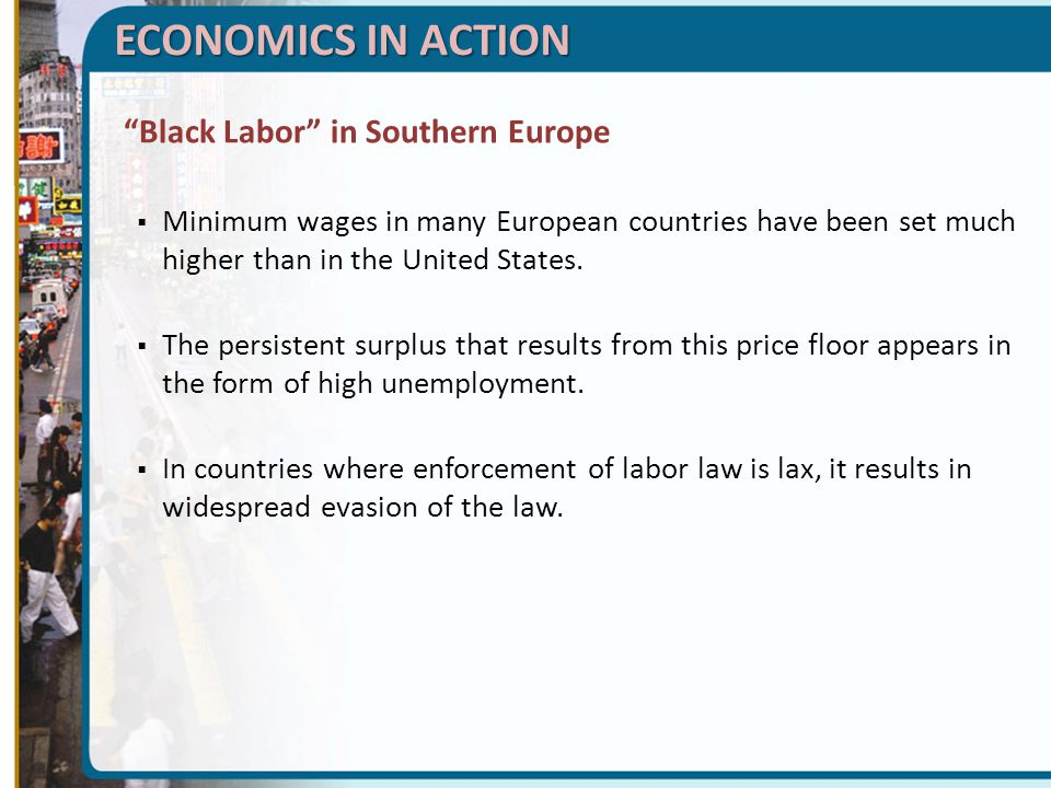 ECONOMICS IN ACTION Black Labor in Southern Europe