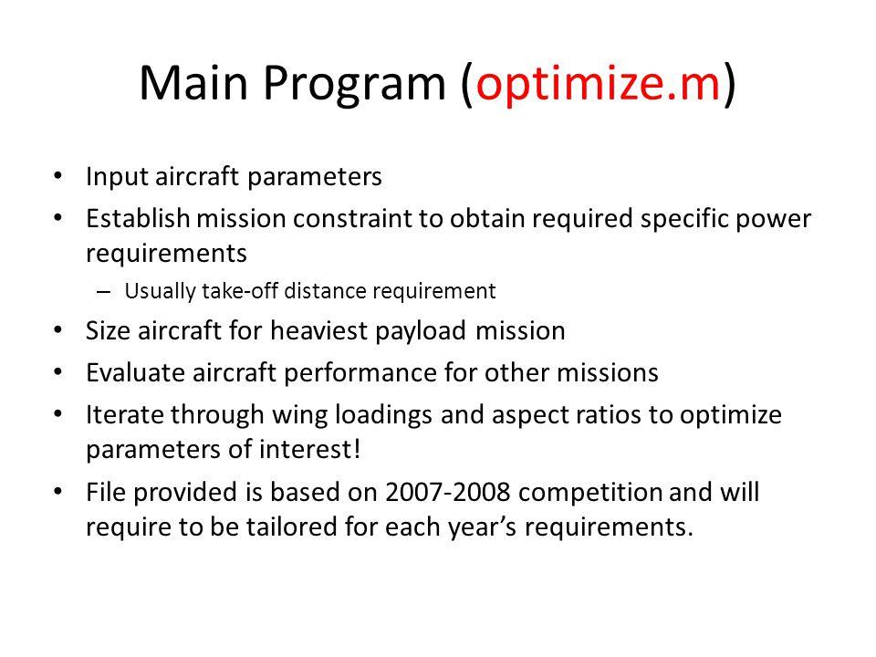 Main Program (optimize.m)