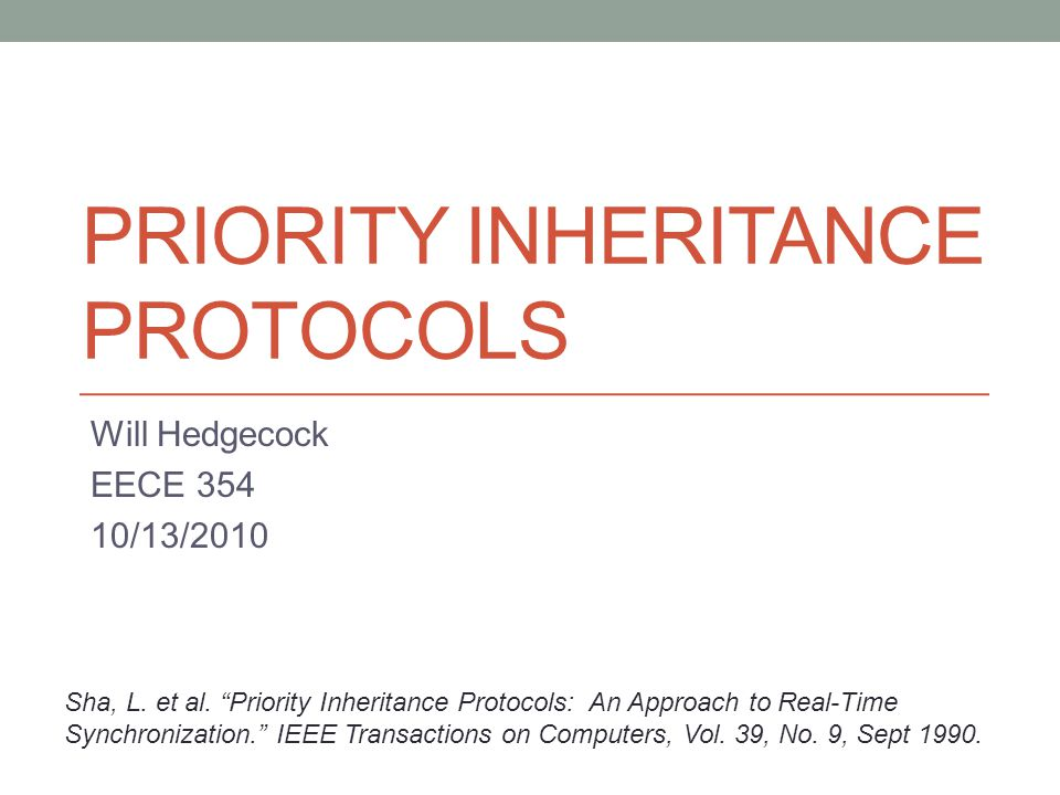 Priority INHERITANCE PROTOCOLS