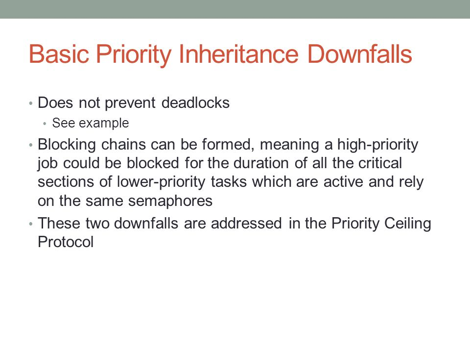 Basic Priority Inheritance Downfalls