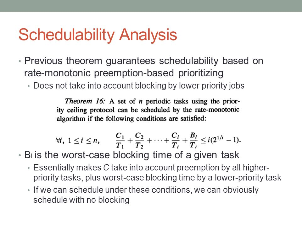 Schedulability Analysis