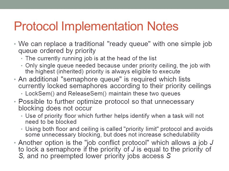 Protocol Implementation Notes