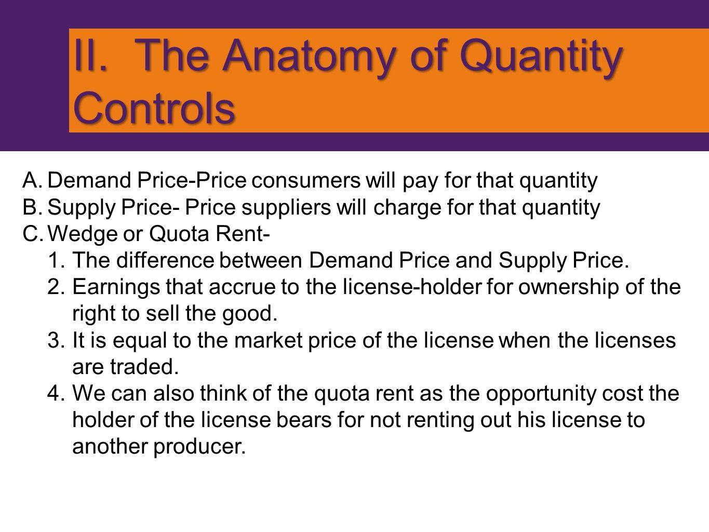 II. The Anatomy of Quantity Controls