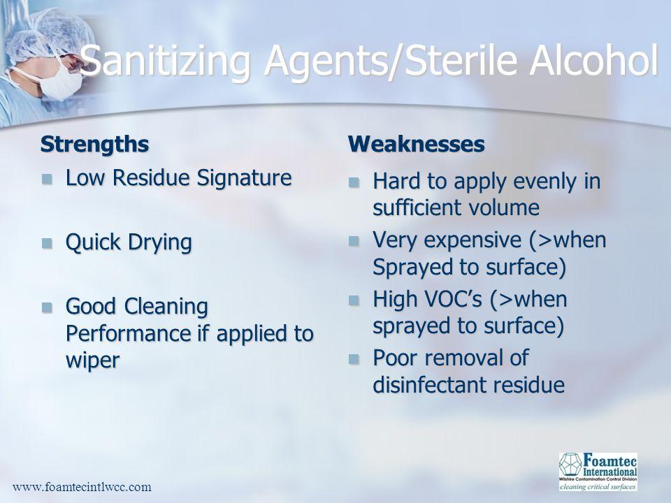 Sanitizing Agents/Sterile Alcohol