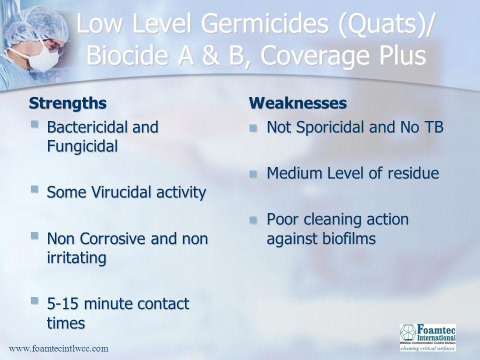 Low Level Germicides (Quats)/ Biocide A & B, Coverage Plus