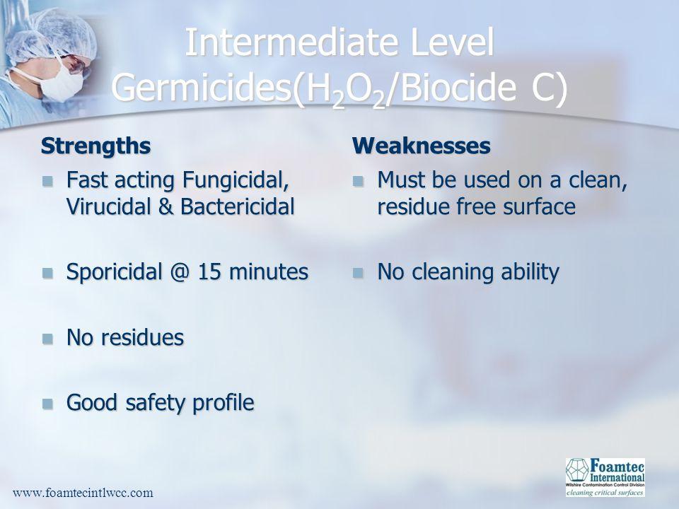 Intermediate Level Germicides(H2O2/Biocide C)