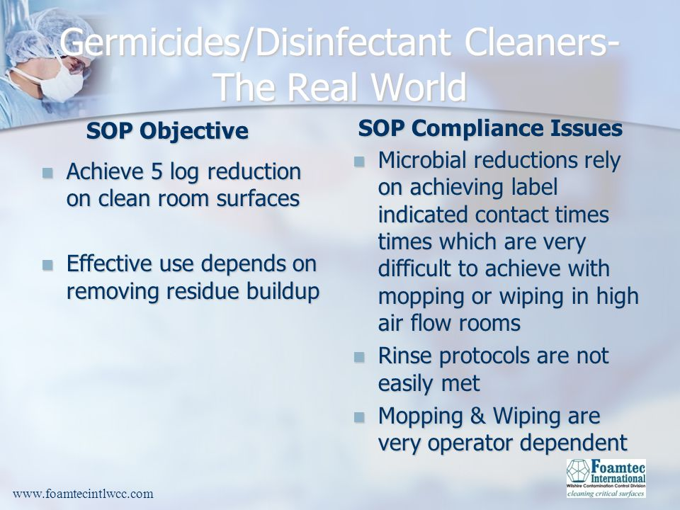 Germicides/Disinfectant Cleaners-The Real World