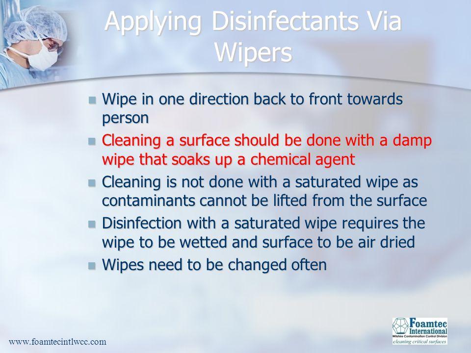 Applying Disinfectants Via Wipers