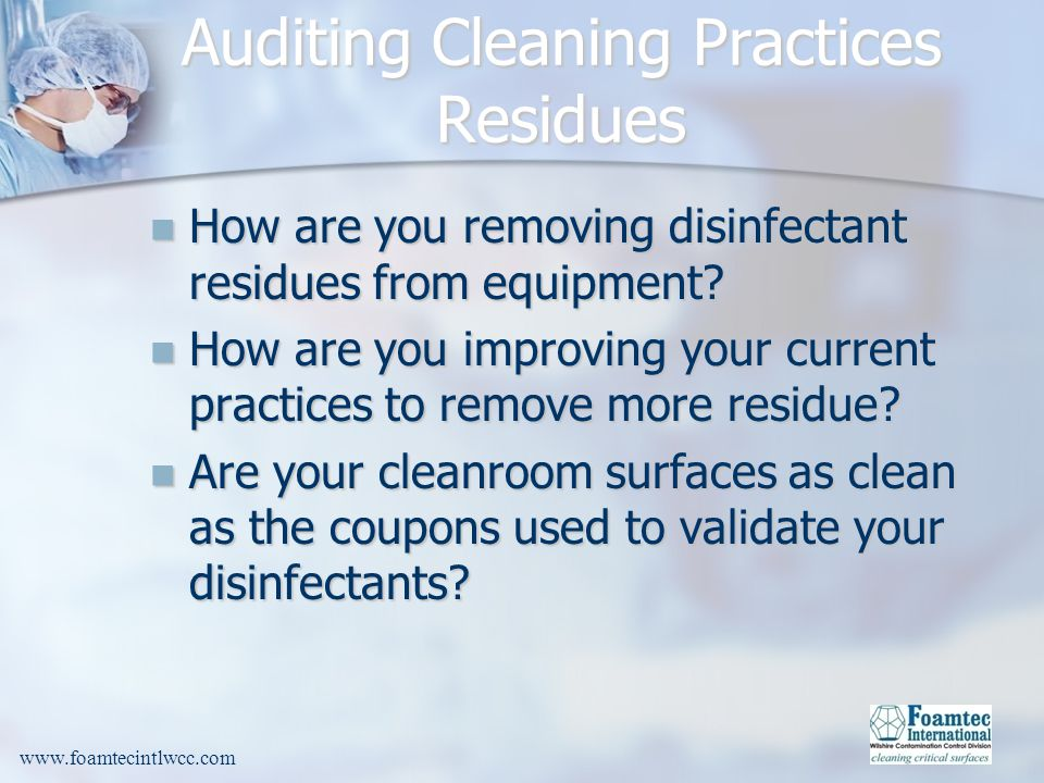 Auditing Cleaning Practices Residues