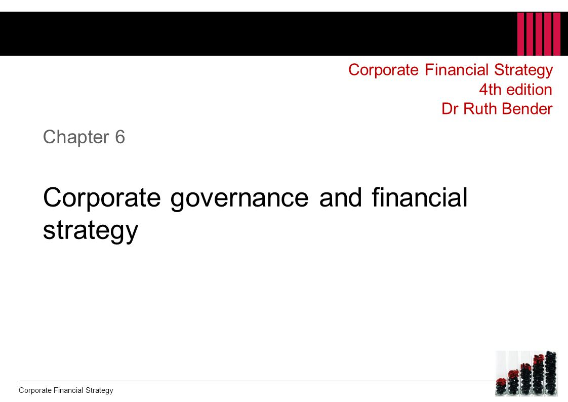 Chapter 6 Corporate governance and financial strategy