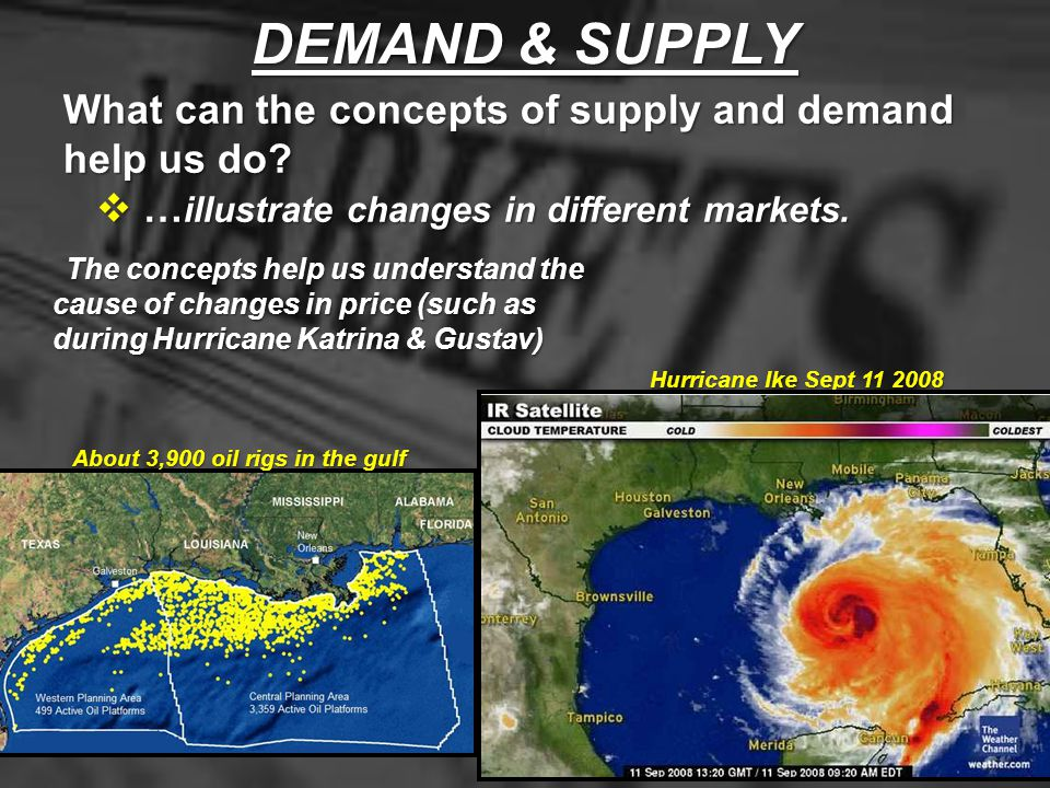 DEMAND & SUPPLY What can the concepts of supply and demand help us do