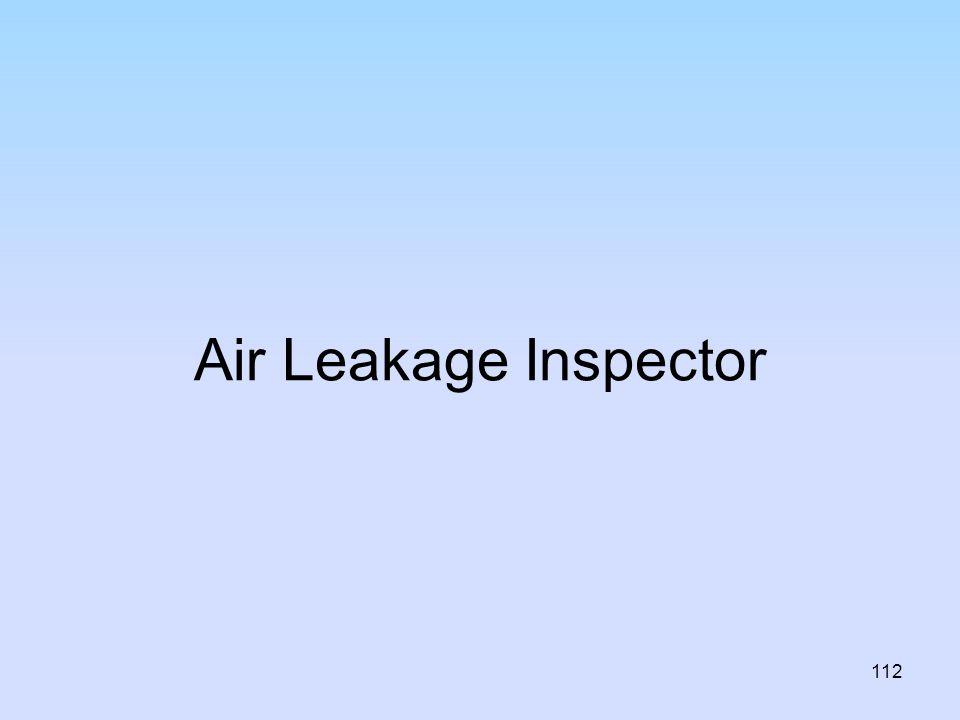 Air Leakage Inspector
