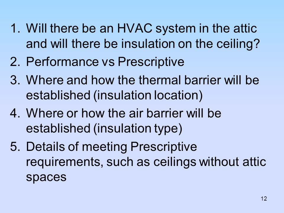 Will there be an HVAC system in the attic and will there be insulation on the ceiling