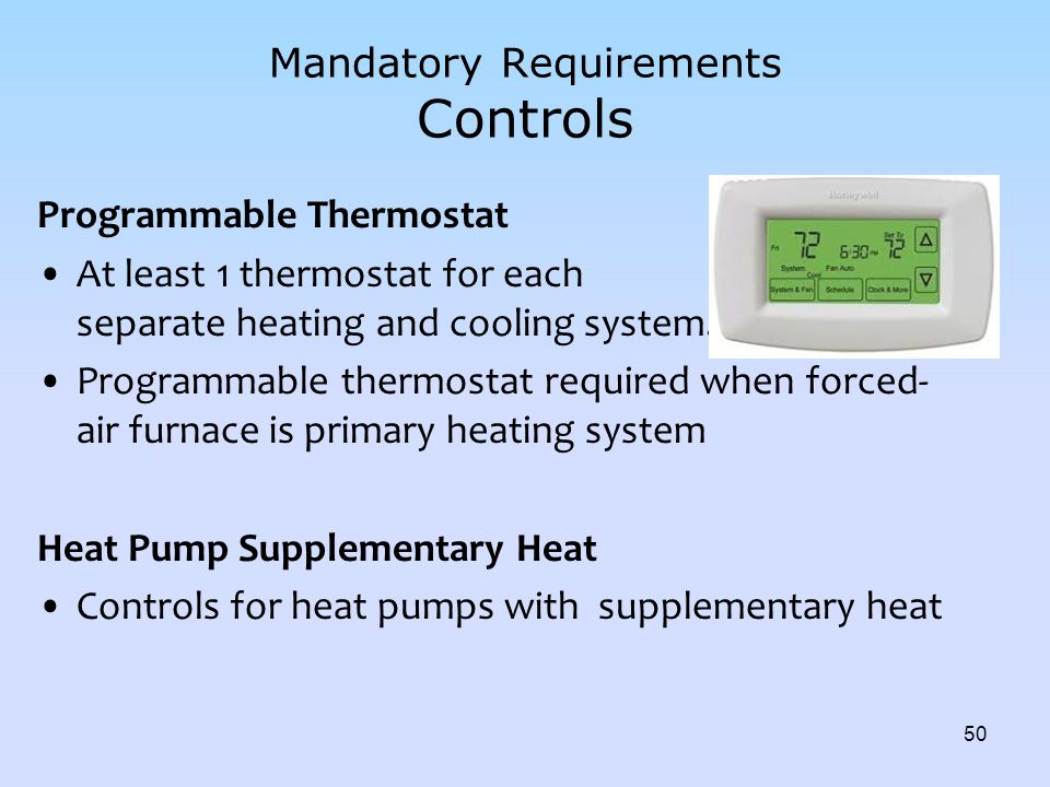 Mandatory Requirements Controls