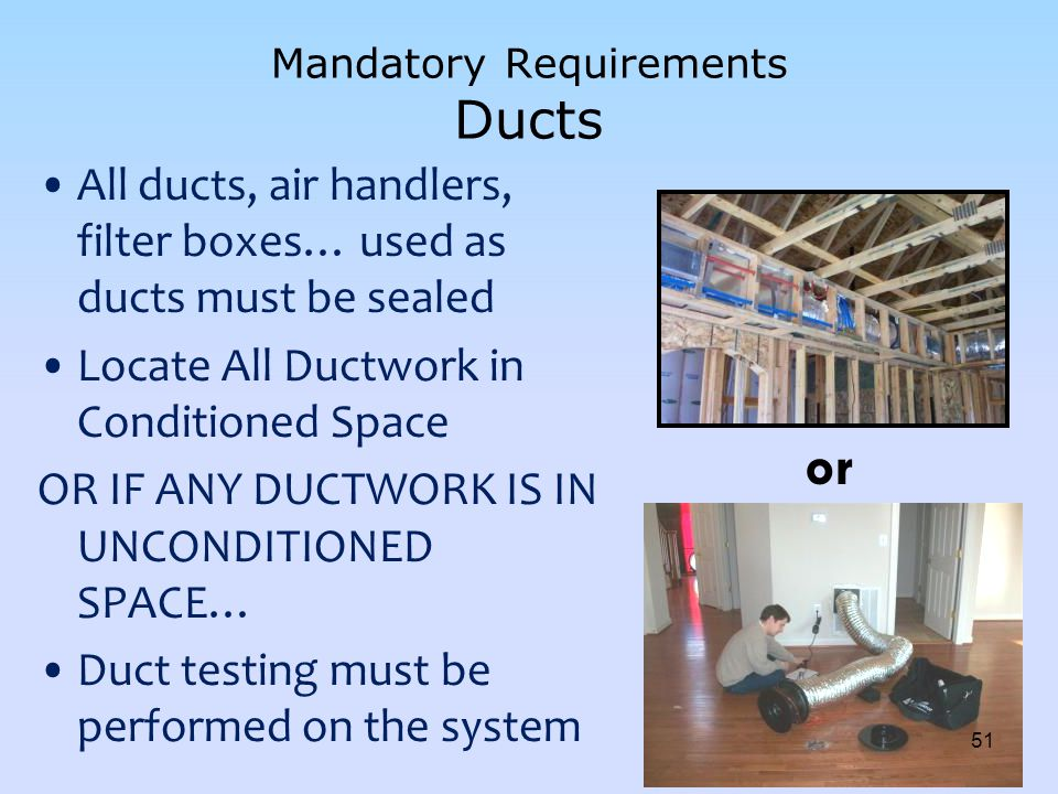 Mandatory Requirements Ducts