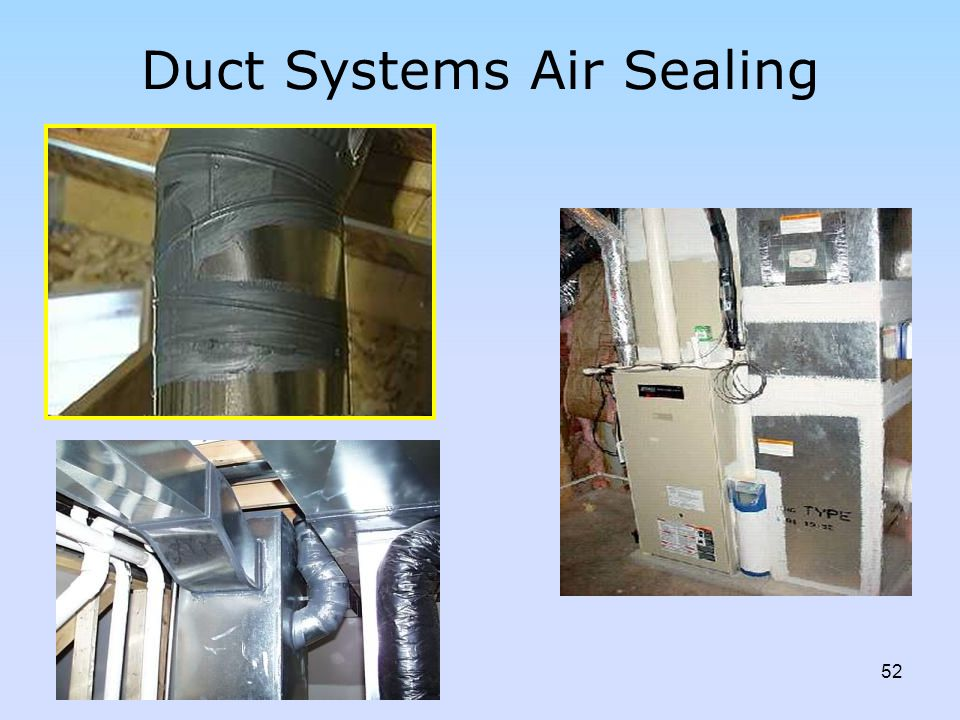 Duct Systems Air Sealing