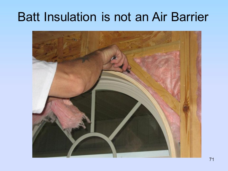 Batt Insulation is not an Air Barrier