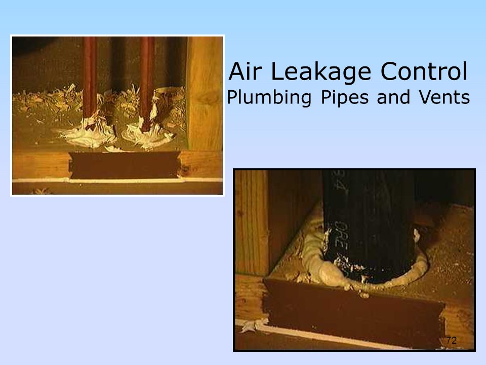 Air Leakage Control Plumbing Pipes and Vents