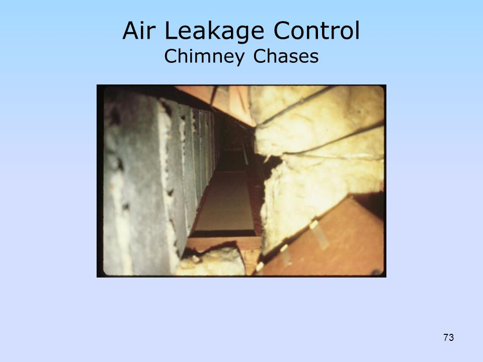 Air Leakage Control Chimney Chases