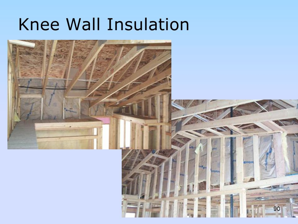 Knee Wall Insulation Discuss kneewall, air sealing, etc.