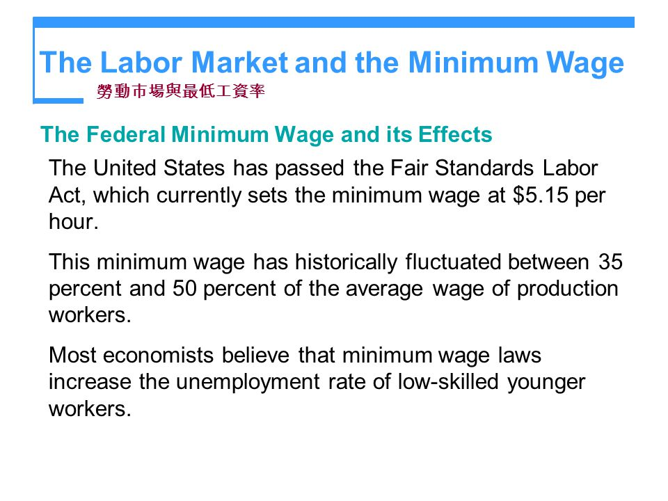 The Minimum Wage Acts in the United States Essay Sample