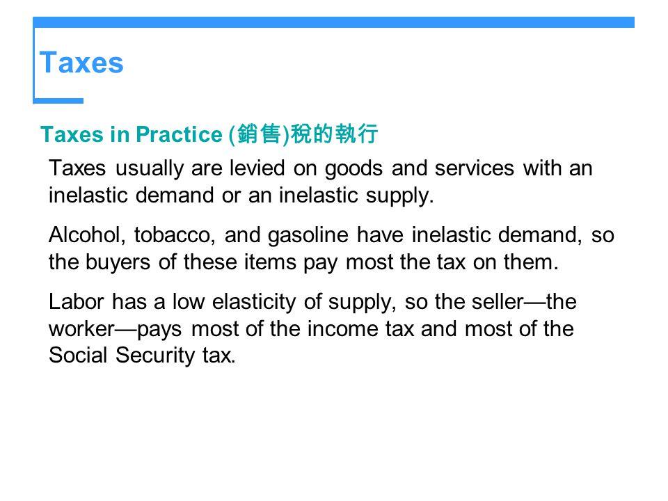 Taxes Taxes in Practice (銷售)稅的執行