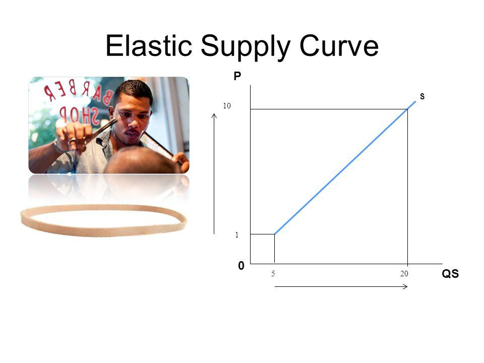 Elastic Supply Curve P S 10 1 5 20 QS