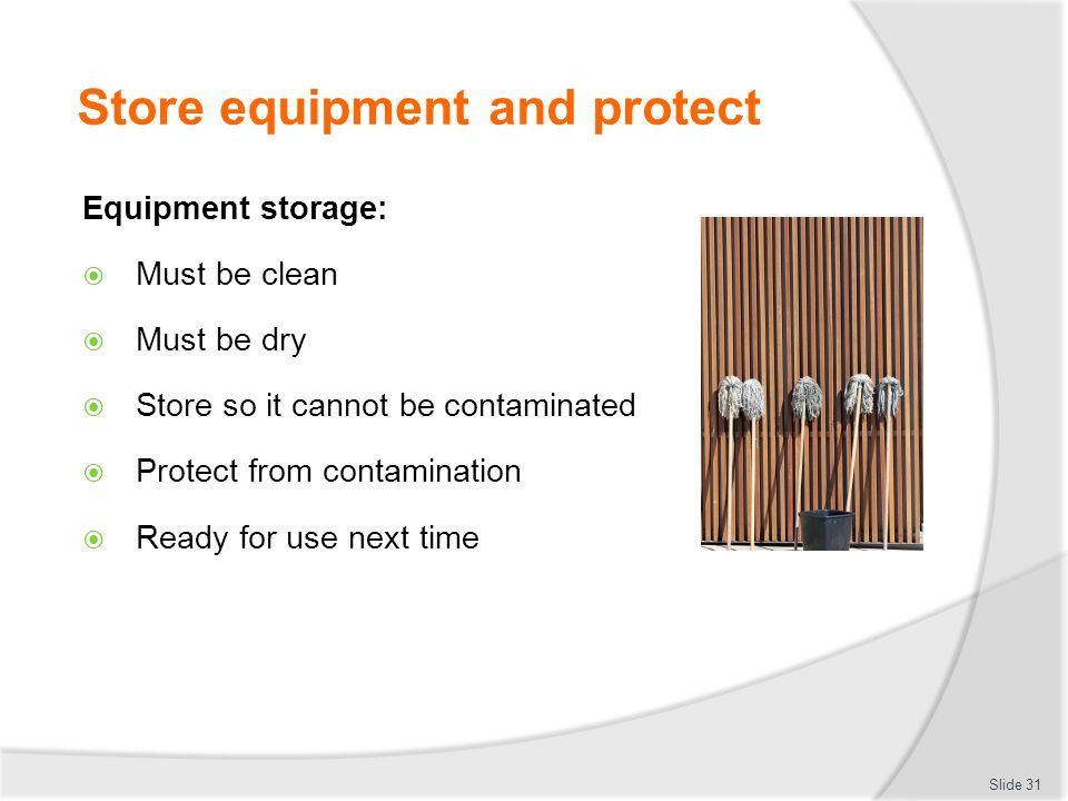 Store equipment and protect