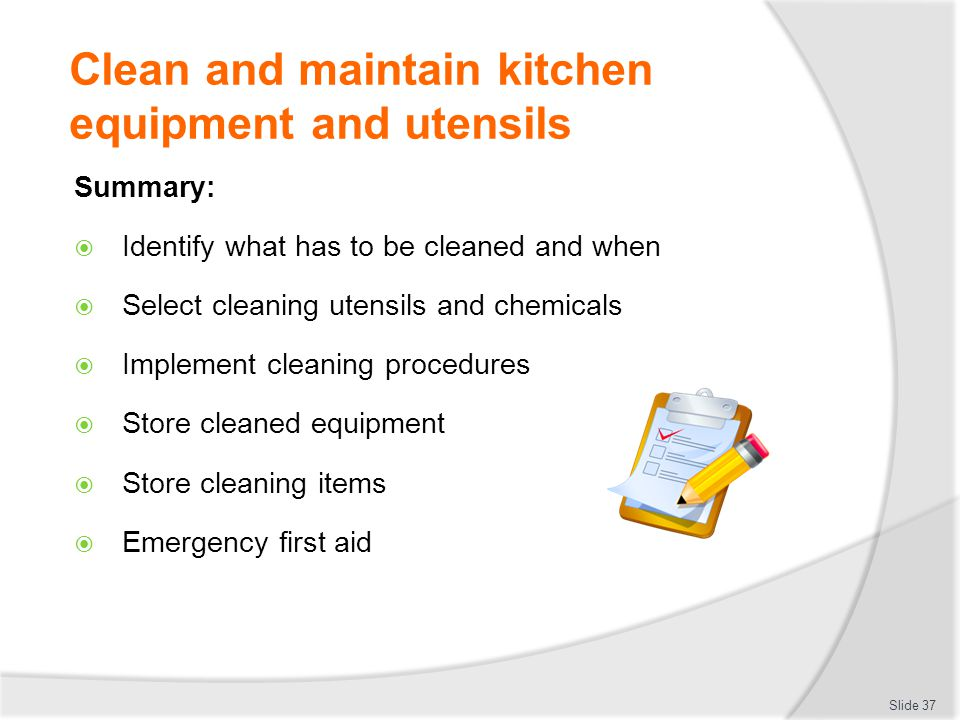 Kitchen Equipment Cleaning Procedure