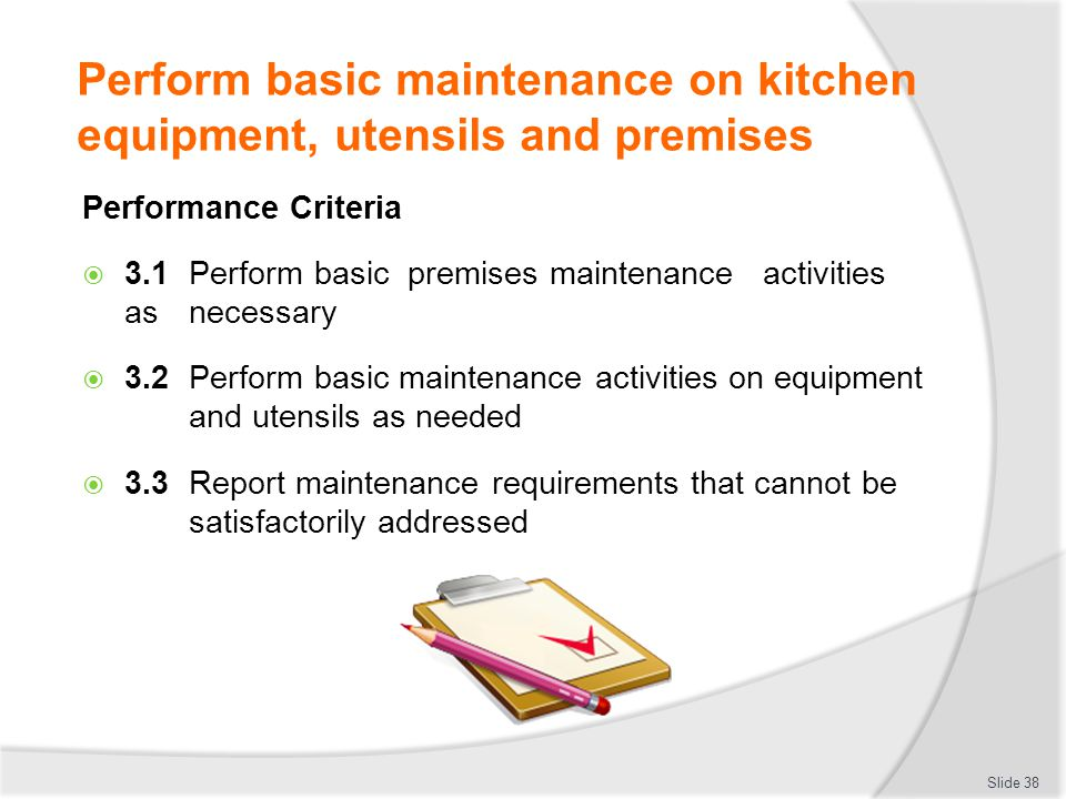 CLEAN AND MAINTAIN KITCHEN EQUIPMENT AND UTENSILS ppt video