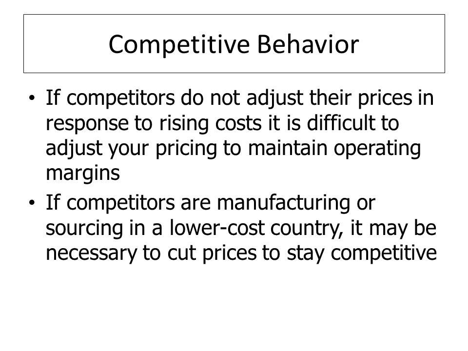 Competitive Behavior