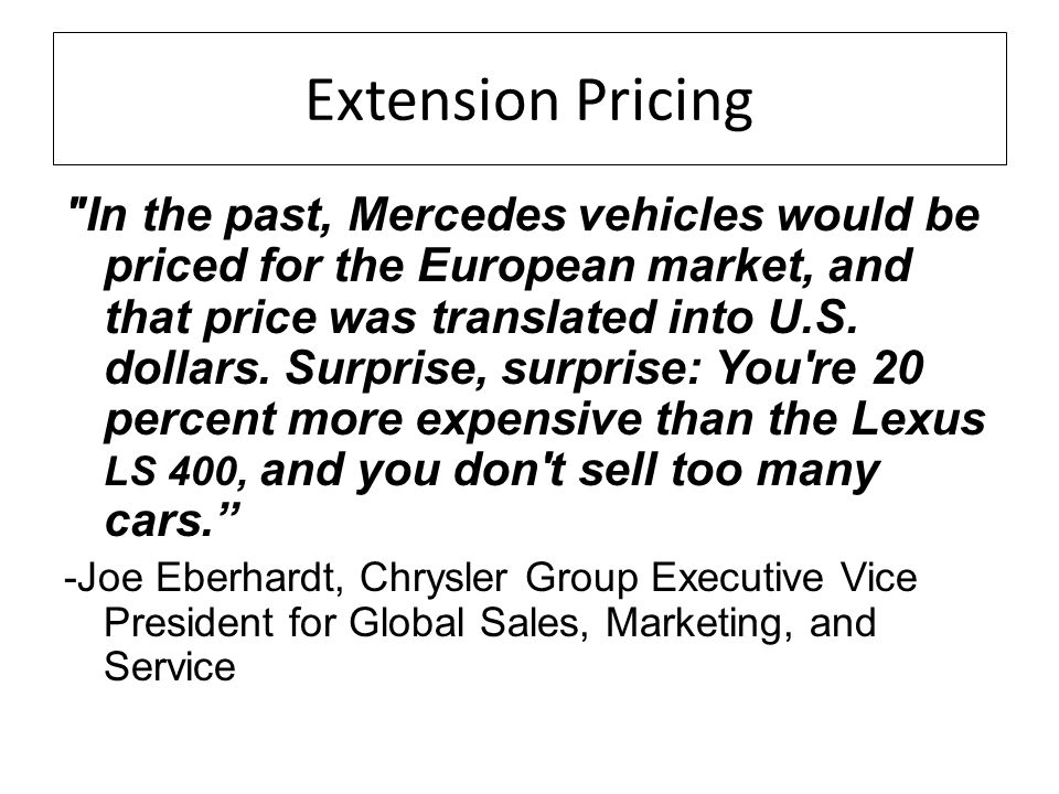Extension Pricing