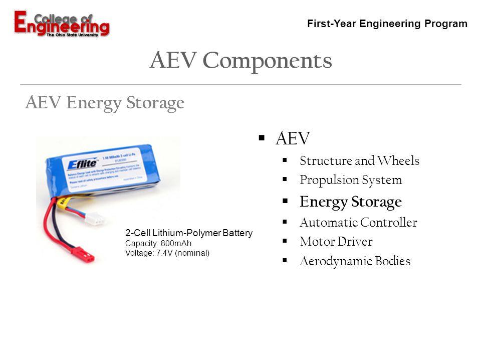 AEV Components AEV Energy Storage AEV Energy Storage
