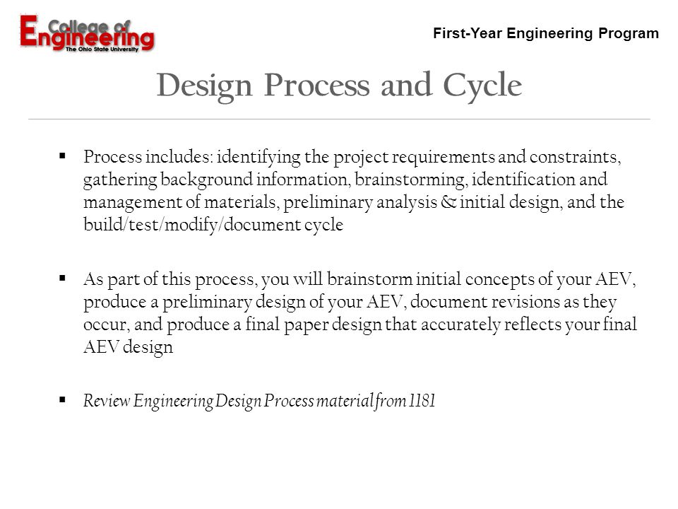 Design Process and Cycle