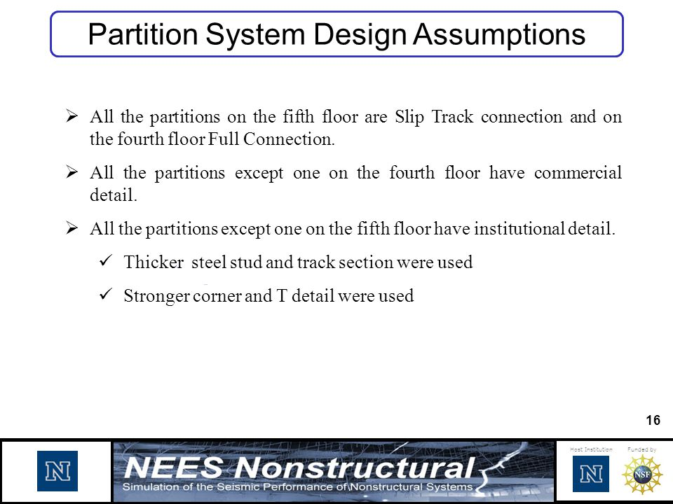 Partition System Design Assumptions