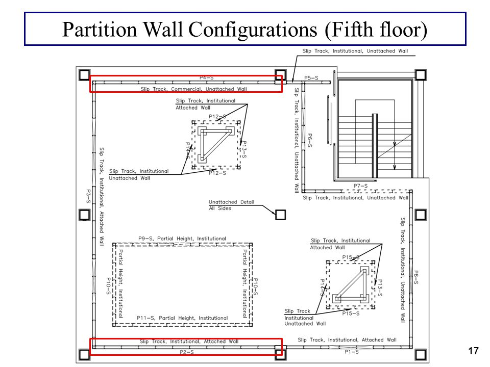 Partition Wall Configurations (Fifth floor)
