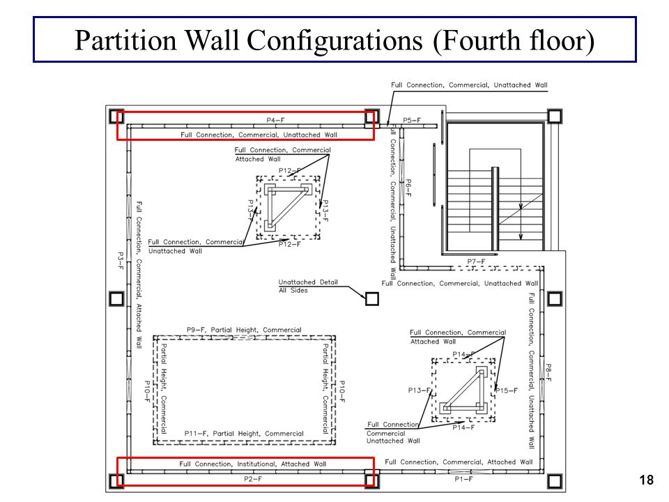 Partition Wall Configurations (Fourth floor)