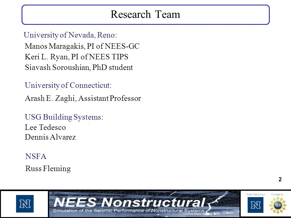 Research Team University of Nevada, Reno: