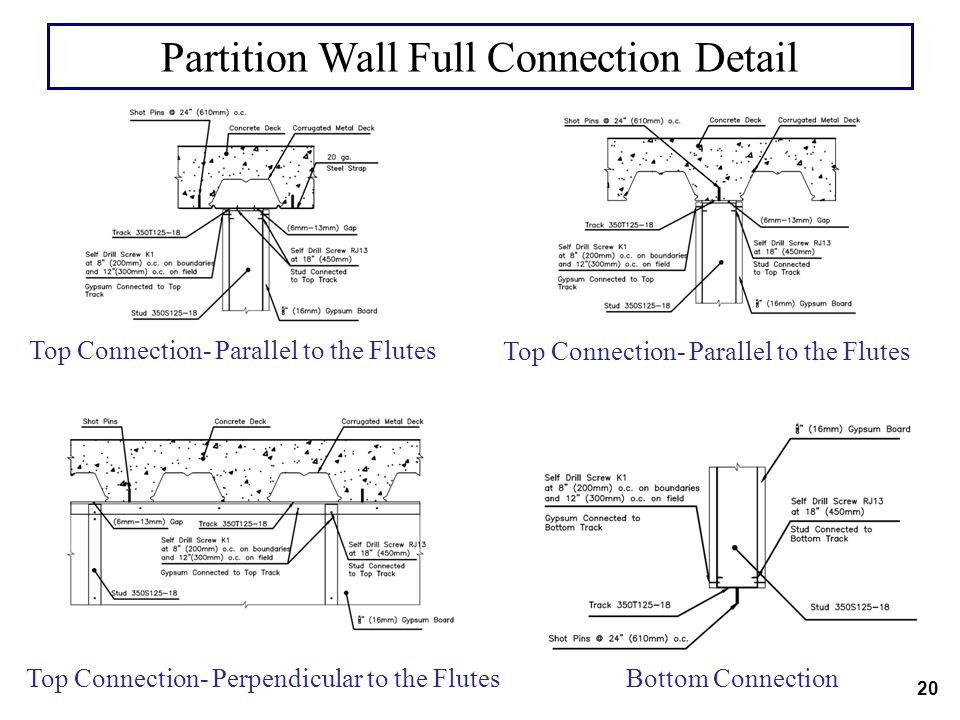 Partition Wall Full Connection Detail