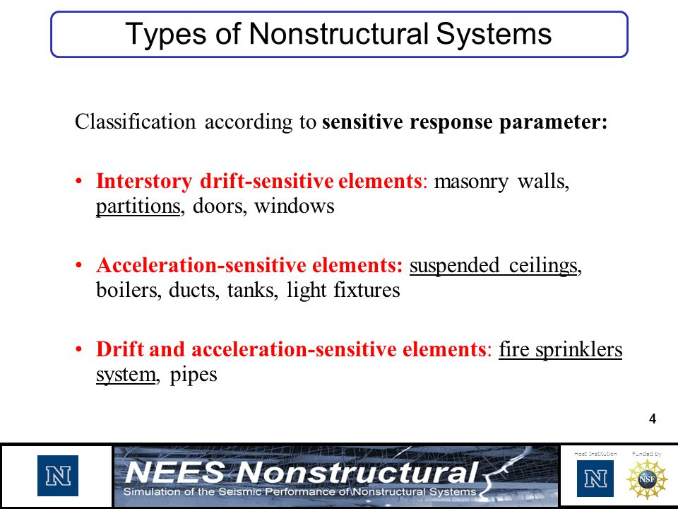 Types of Nonstructural Systems