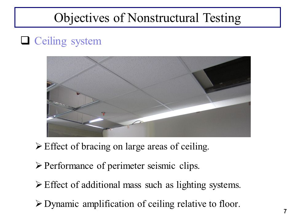 Objectives of Nonstructural Testing
