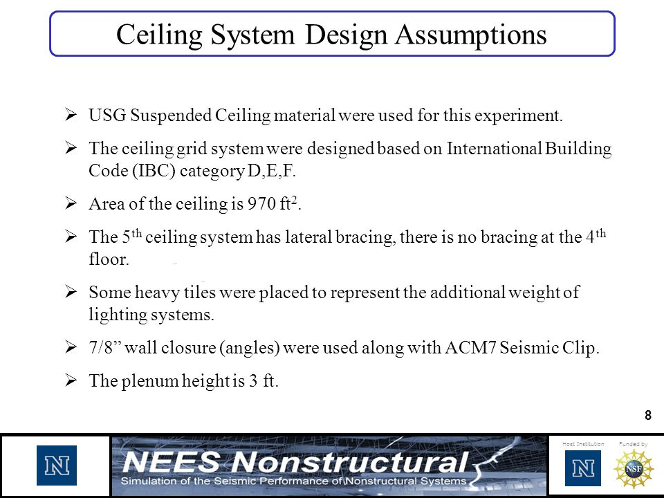 Ceiling System Design Assumptions