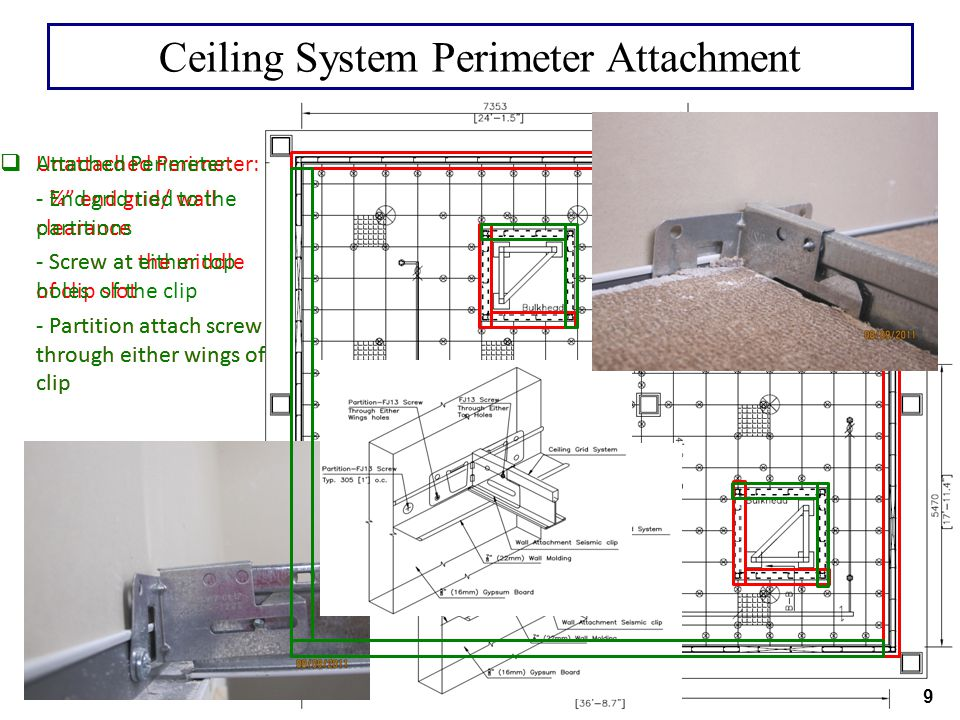 Ceiling System Perimeter Attachment