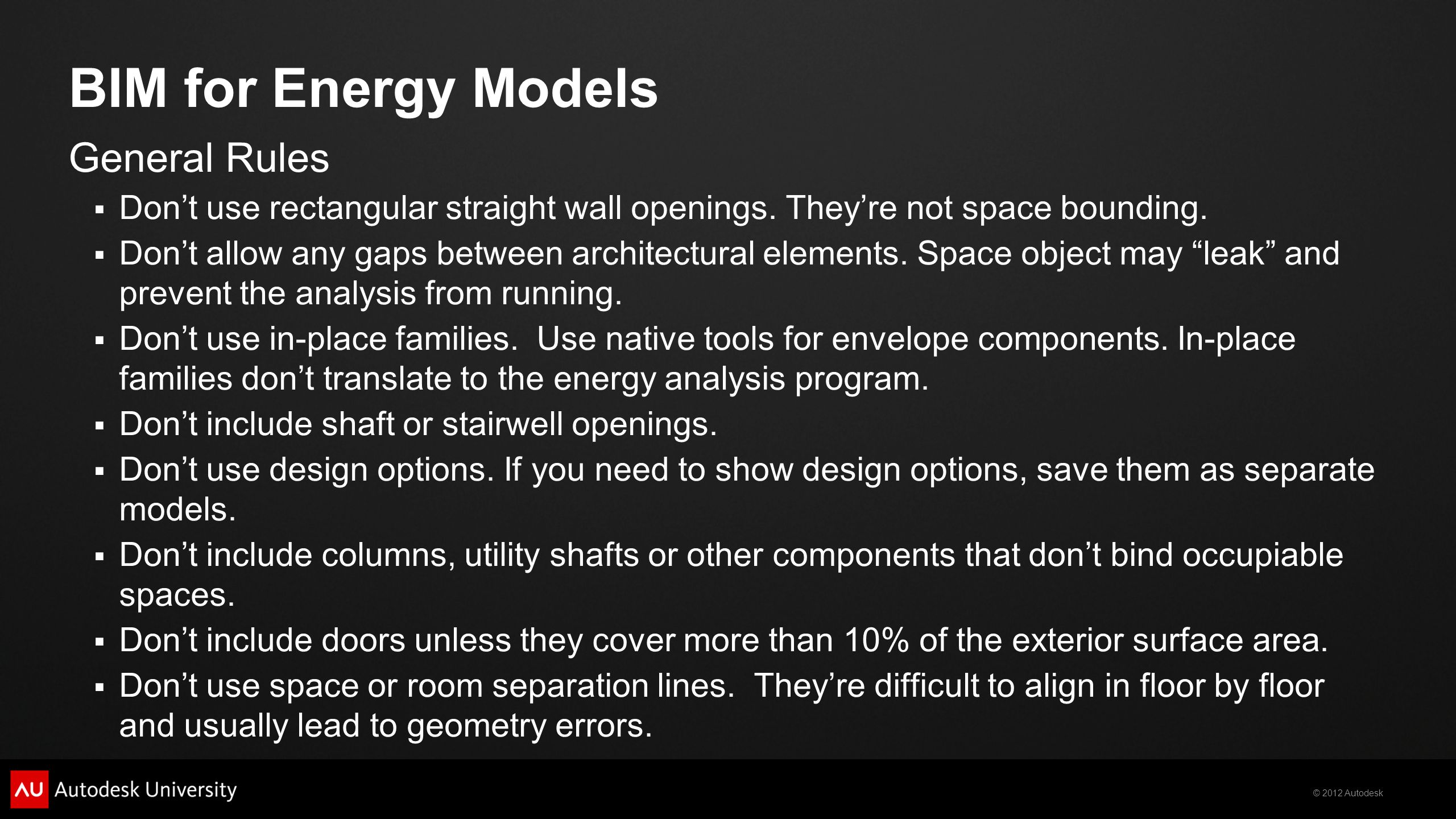 BIM for Energy Models General Rules