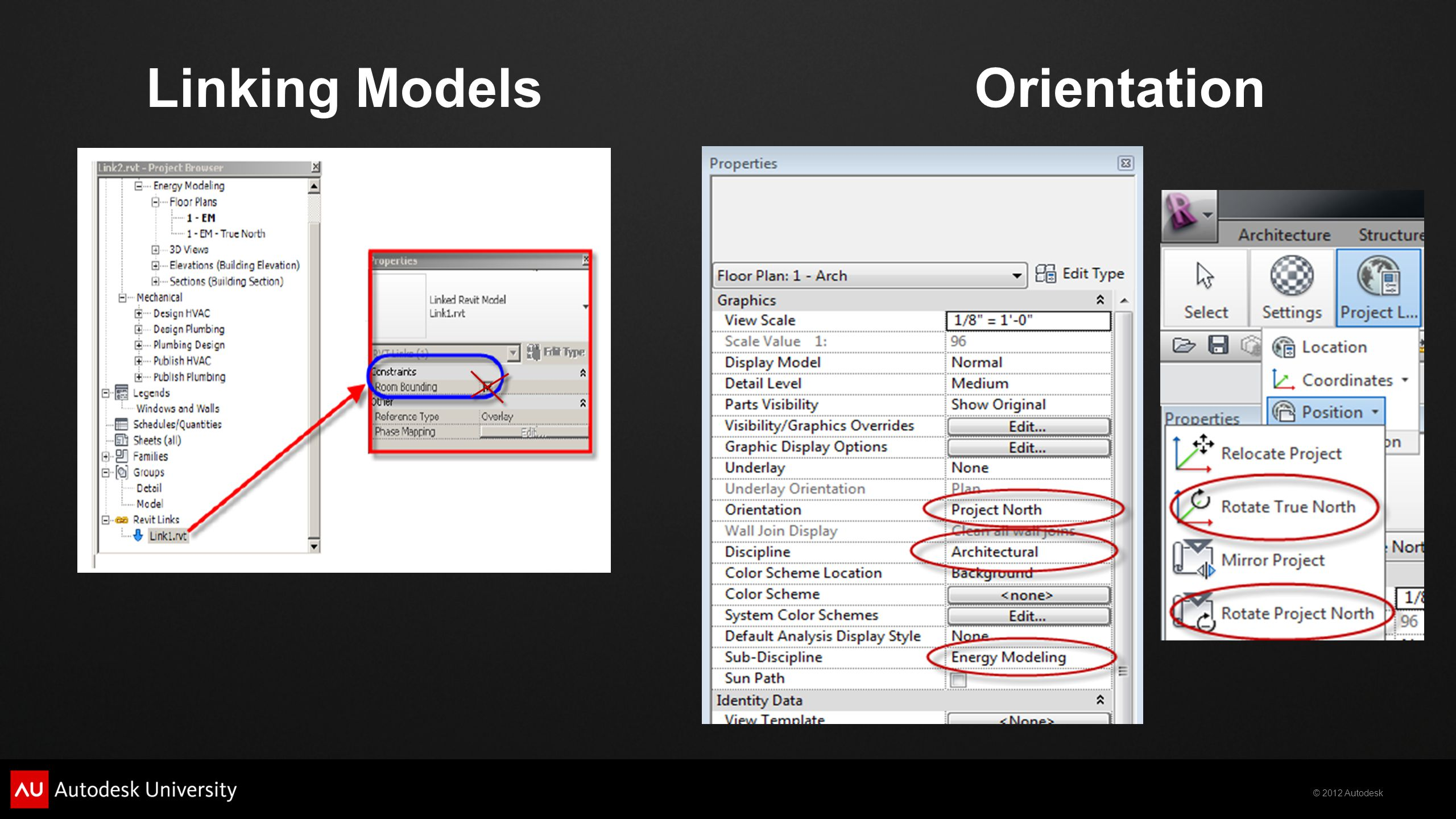 Linking Models Orientation